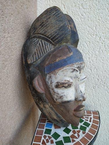 Masque africain Mukuyi Punu Tsangui Gabon