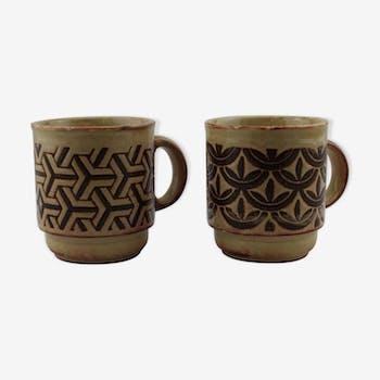 Set de 2 mugs en céramique