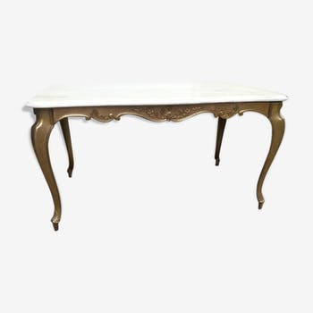 table basse ancienne en bronze louis xv marbre blanc classique 143165. Black Bedroom Furniture Sets. Home Design Ideas