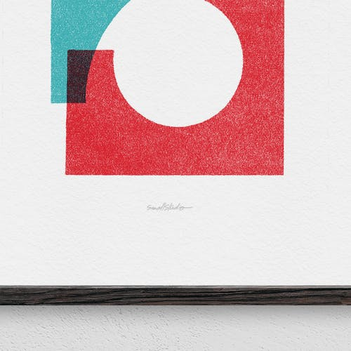 Illustration Two rests in park giclee print