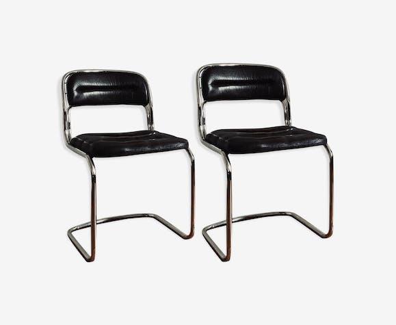 Paire de chaises vintage années 70