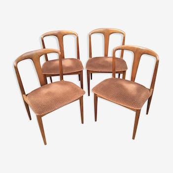 """Batch of 4 Scandinavian chairs """"Julianes"""" by Johannes Andersen"""