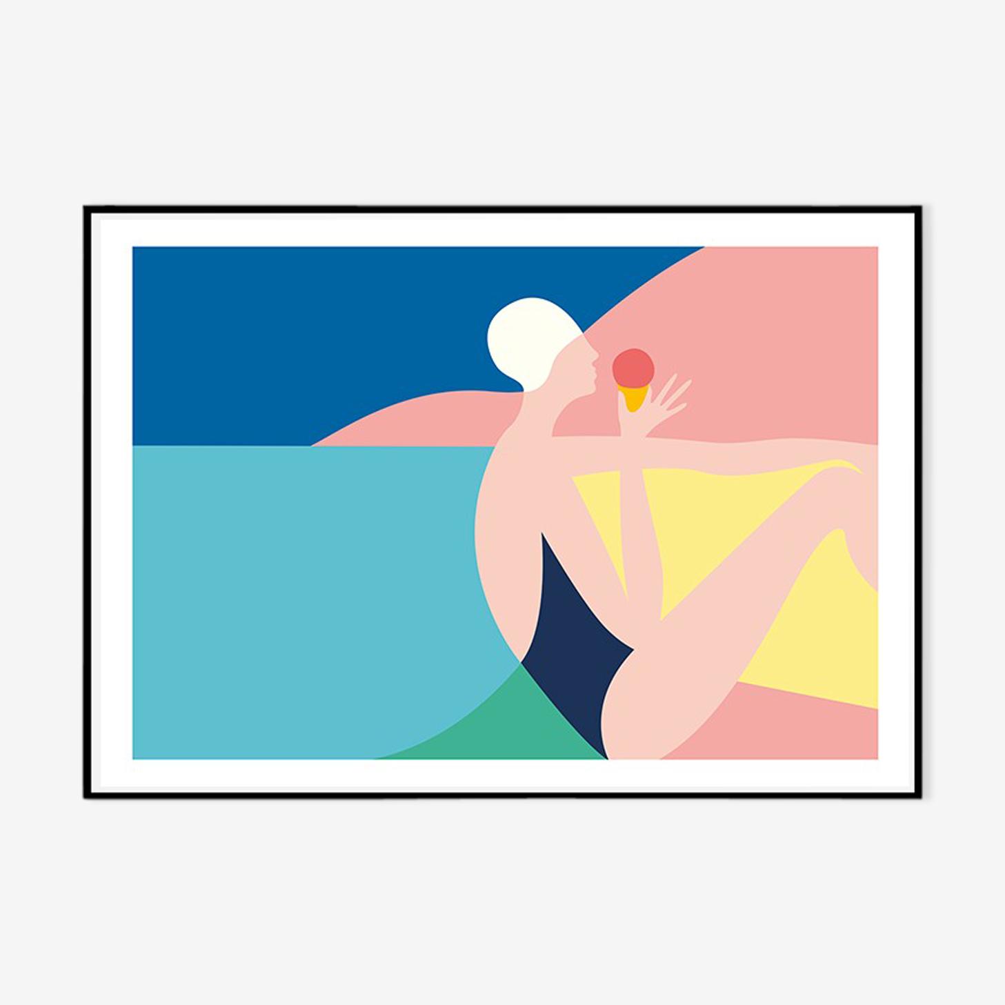 "Tirage ""Beach time"" de Sabrina Chess"