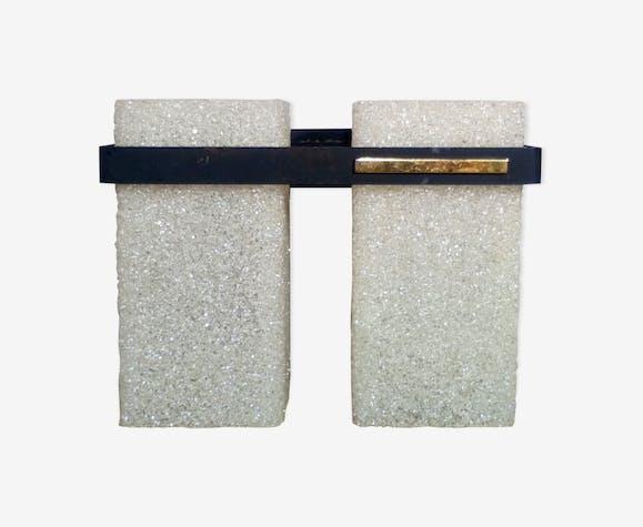 Applique moderniste en perspex 1950 plastique transparent
