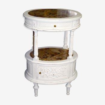 Louis XVI style oak bedside