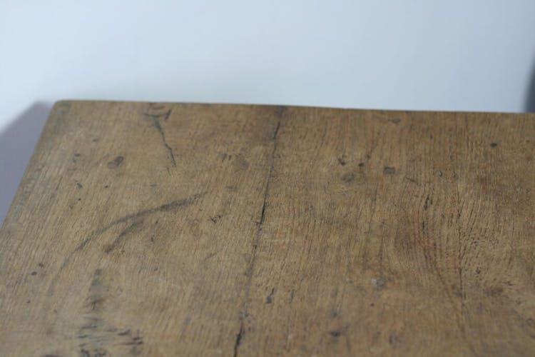 Table de ferme en chêne massif avec tiroir