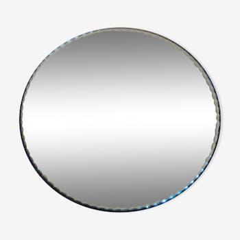 Miroir de table rond biseauté 28x28cm