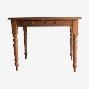 Bureau en bois vernis