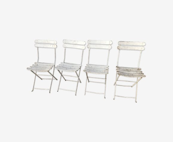 Set de 4 chaises de jardin pliables