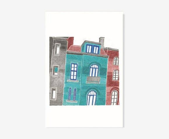 """Illustration """"rue americaine 1"""""""
