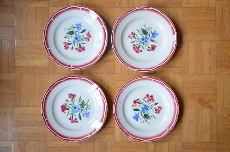 Lot de 4 assiettes Sarreguemine, collection José