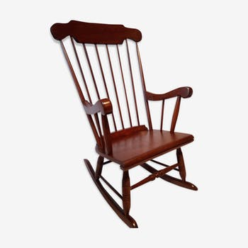 Rocking chair 50s in solid wood