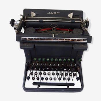 Machine a écrire Japy en metal noire
