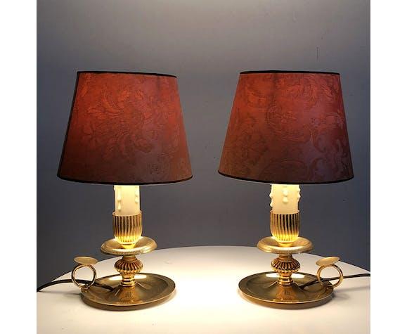 Paire de lampes des années 50