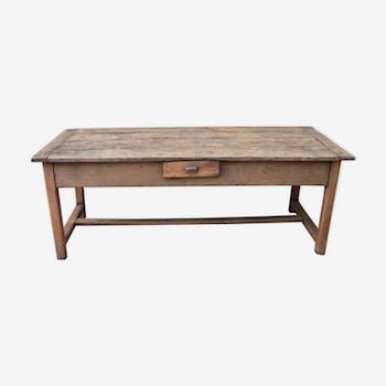 Solid wood farm table