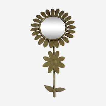 Miroir fleur oeil de sorcière années 60/70