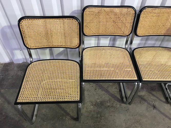 Suite de 4 chaises B32 Marcel Breuer
