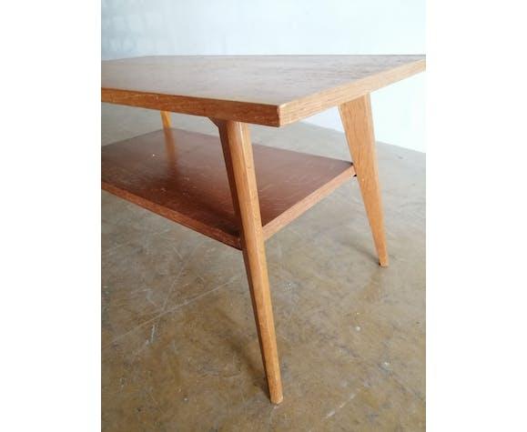Table basse vintage en chêne