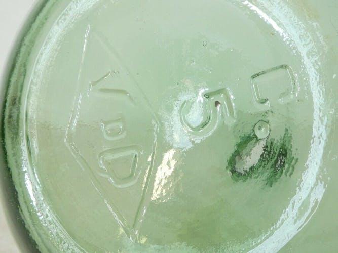 Dame jeanne 'verre soufflé bullé 5 litres