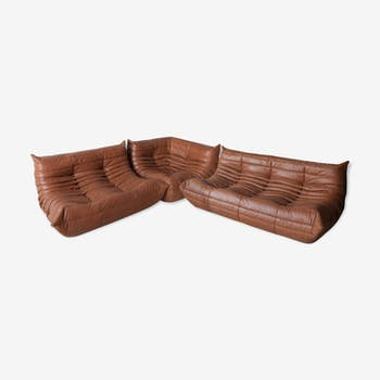 Set of 3 Togo sofas by Michel Ducaroy for Ligne Roset