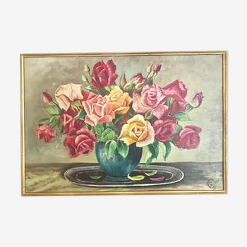 Tableau bouquet fleurs