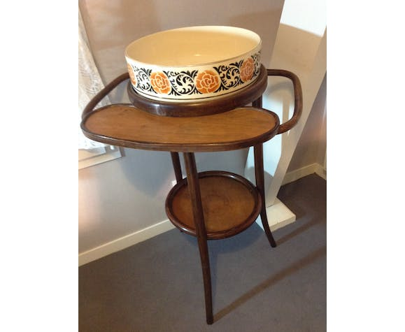 Bent wooden old retro vintage dressing table