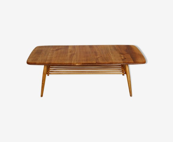 Mid century Ercol coffee table with magazine rack, 1960s