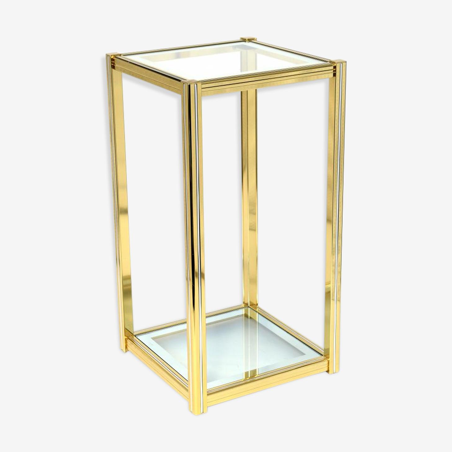 Belgo Chrom 1970 s brass side table