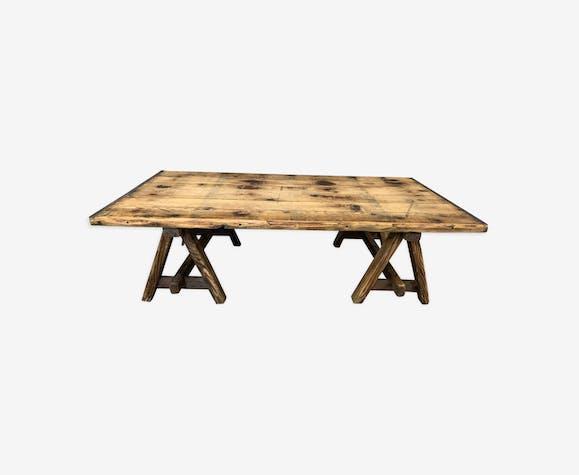Basse Brutmatériaucouleur Tréteaux Bois Table En dBrCexo