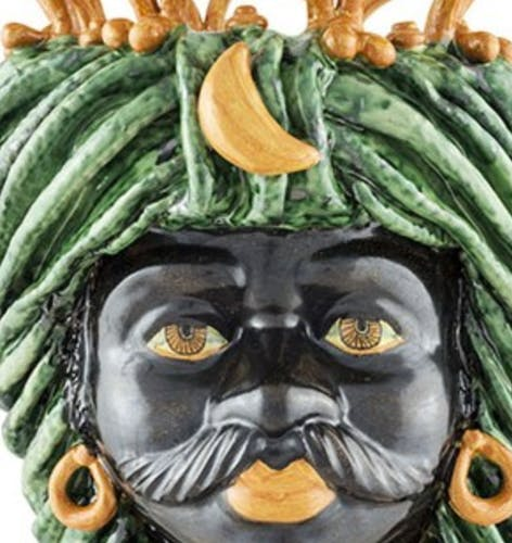 Vase couronne vert homme
