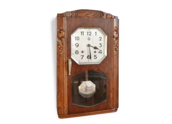 Horloge carillon pendule carrez ancien bois for Pendule salle a manger