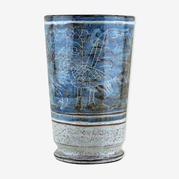 60 years blue vase