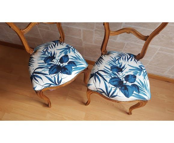Paire de chaises restaurées