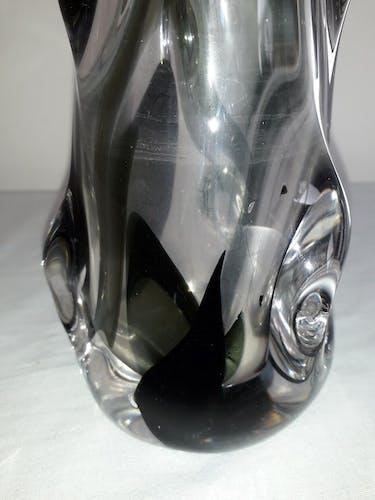 Vase forme libre en cristal