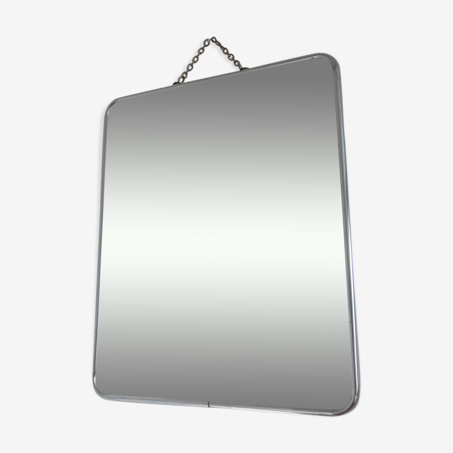 Miroir de barbier à chainette années 50/60 - 24x29cm
