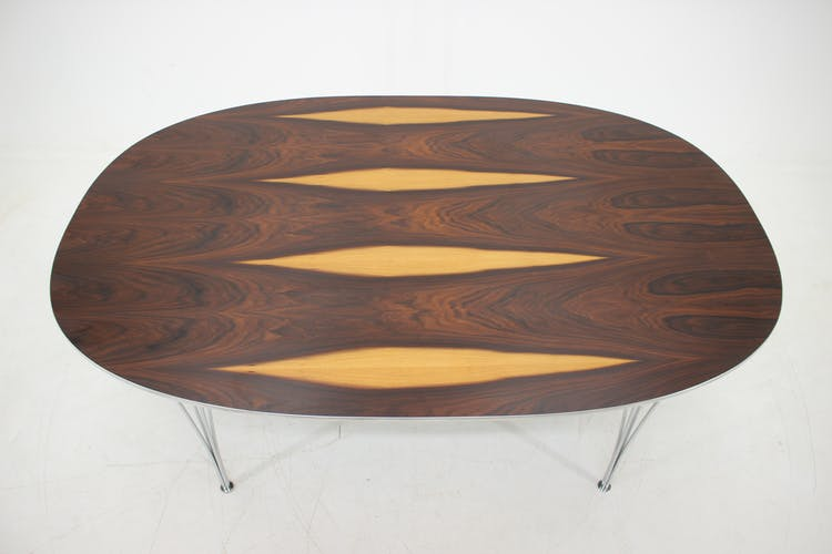 Table Super Ellipsepar Piet Hein et Bruno Mathsson pour Fritz Hansen en palisandre des années 1970