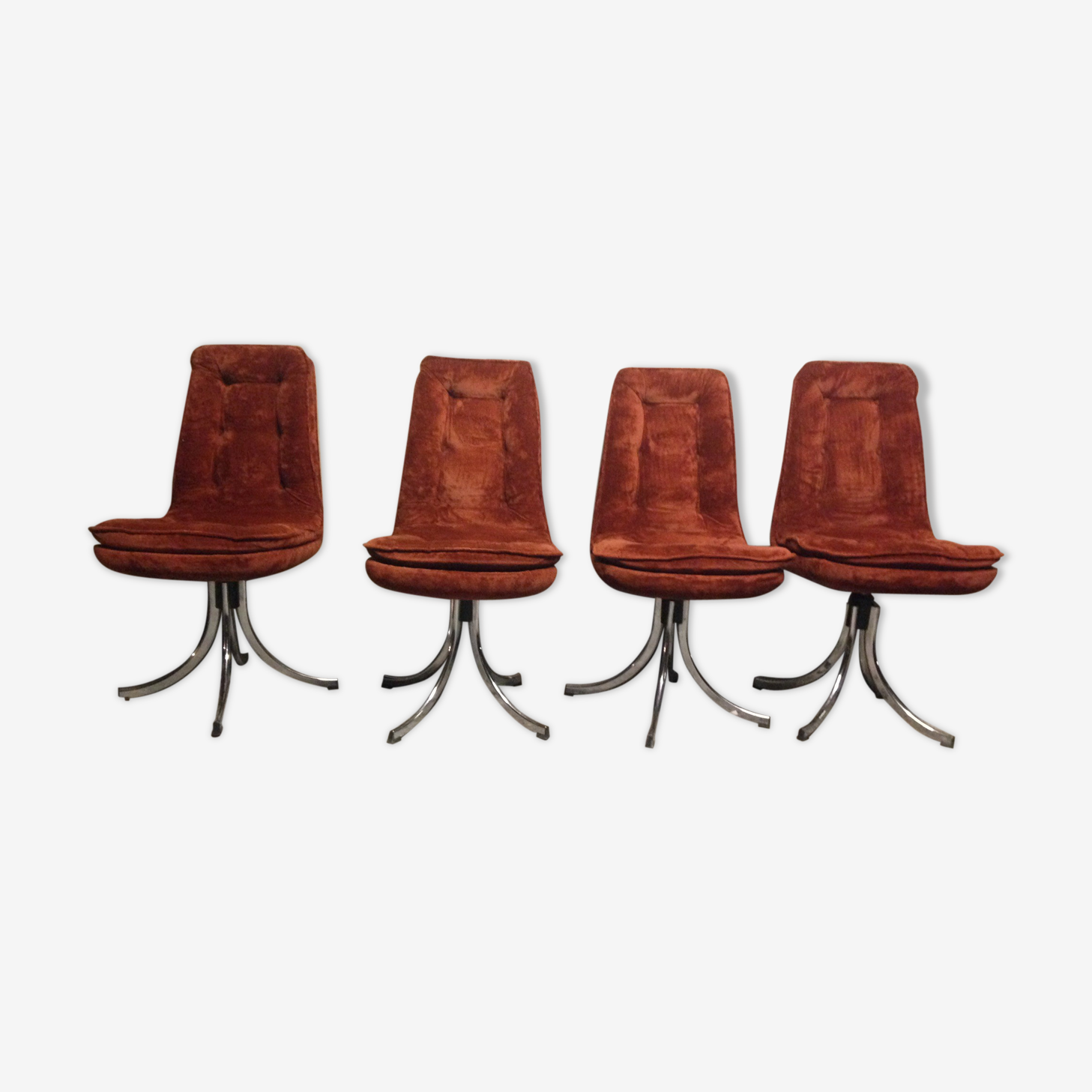 Suite de 4 chaises Gastone Rinaldi 1970 pour Rima