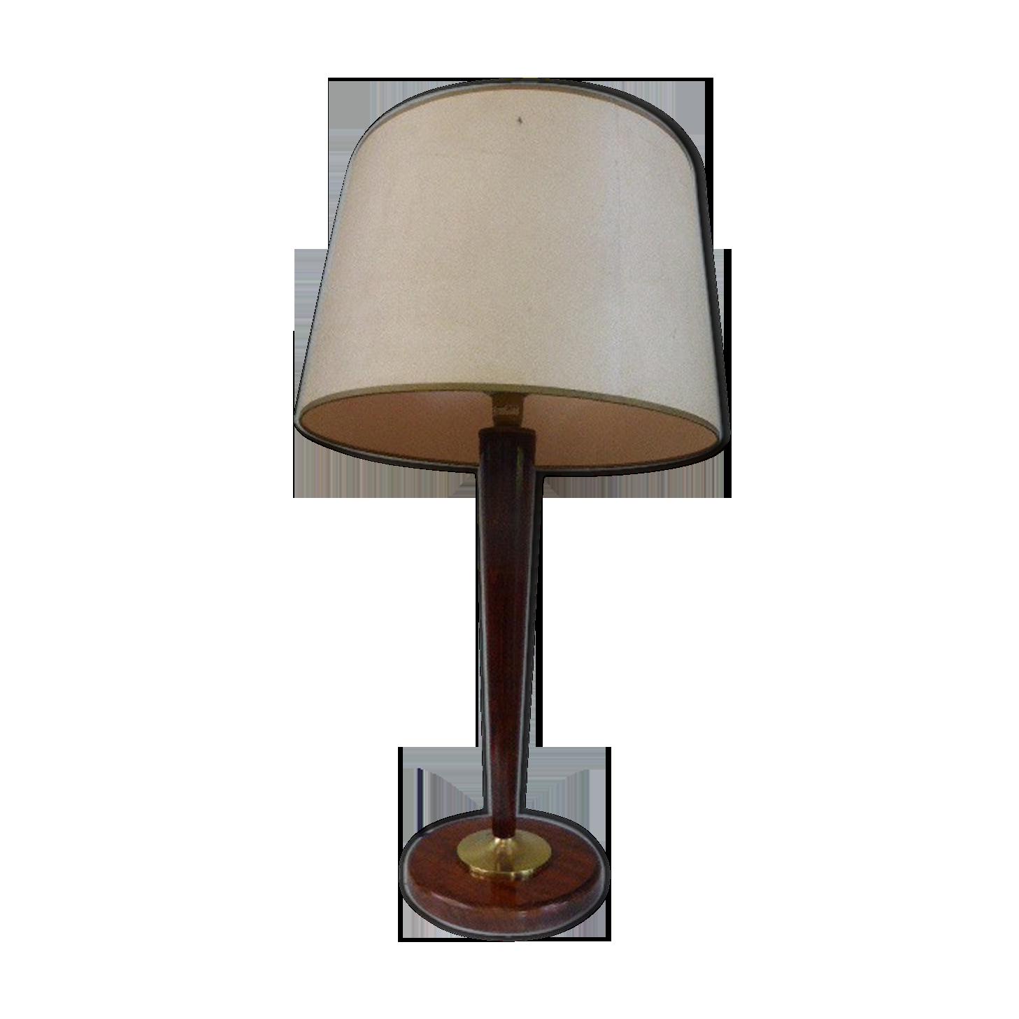 Grande lampe de bureau articulée vintage bois et métal cm