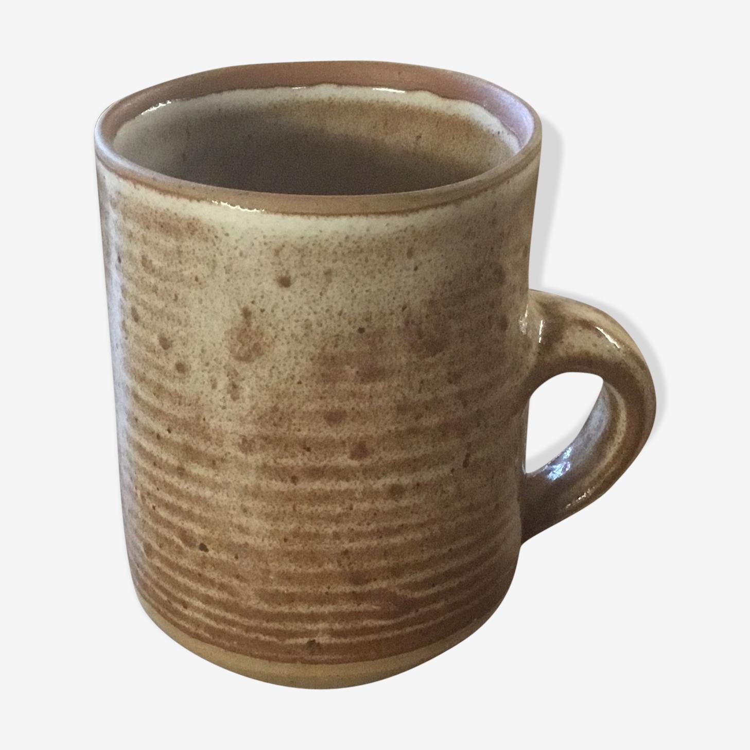 Large mug stoneware signed Roger Jacques