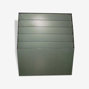 trieur courrier mural type industriel m tal gris industriel 34410. Black Bedroom Furniture Sets. Home Design Ideas
