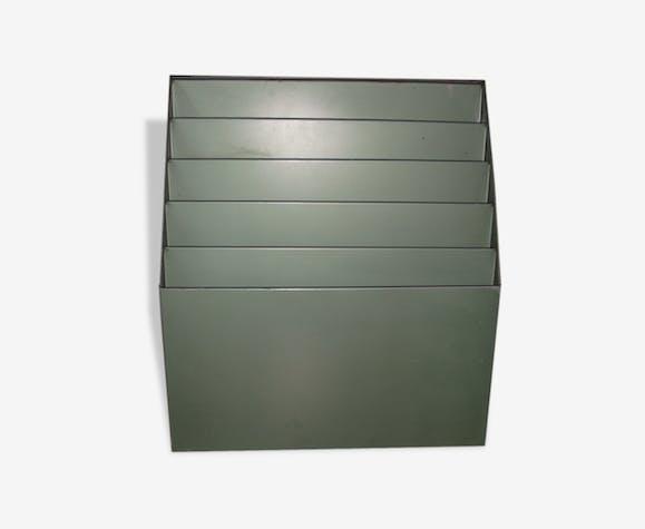 Trieur à Courrier Mural D Usine Métal Vert Industriel