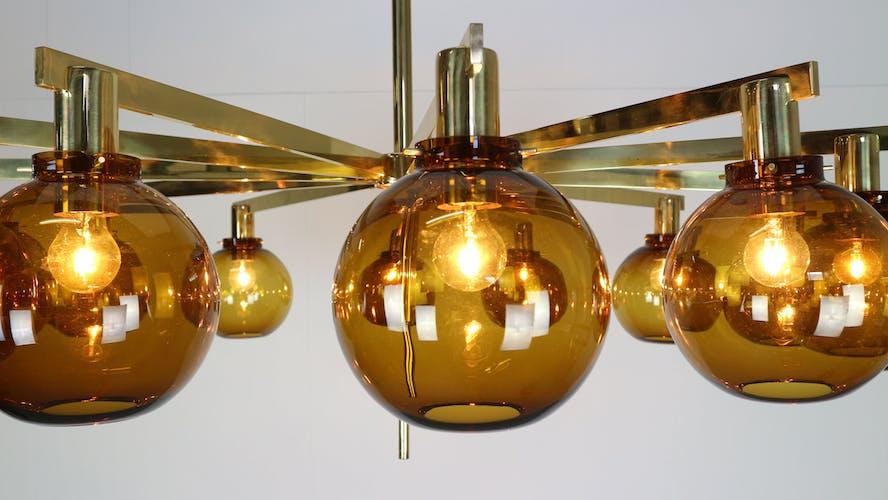 Hans-Agne Jakobsson 12-arm chandelier, model T348/12 Pastoral, 1959