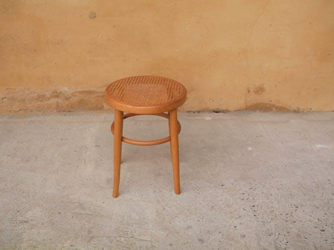 Cane vintage stool