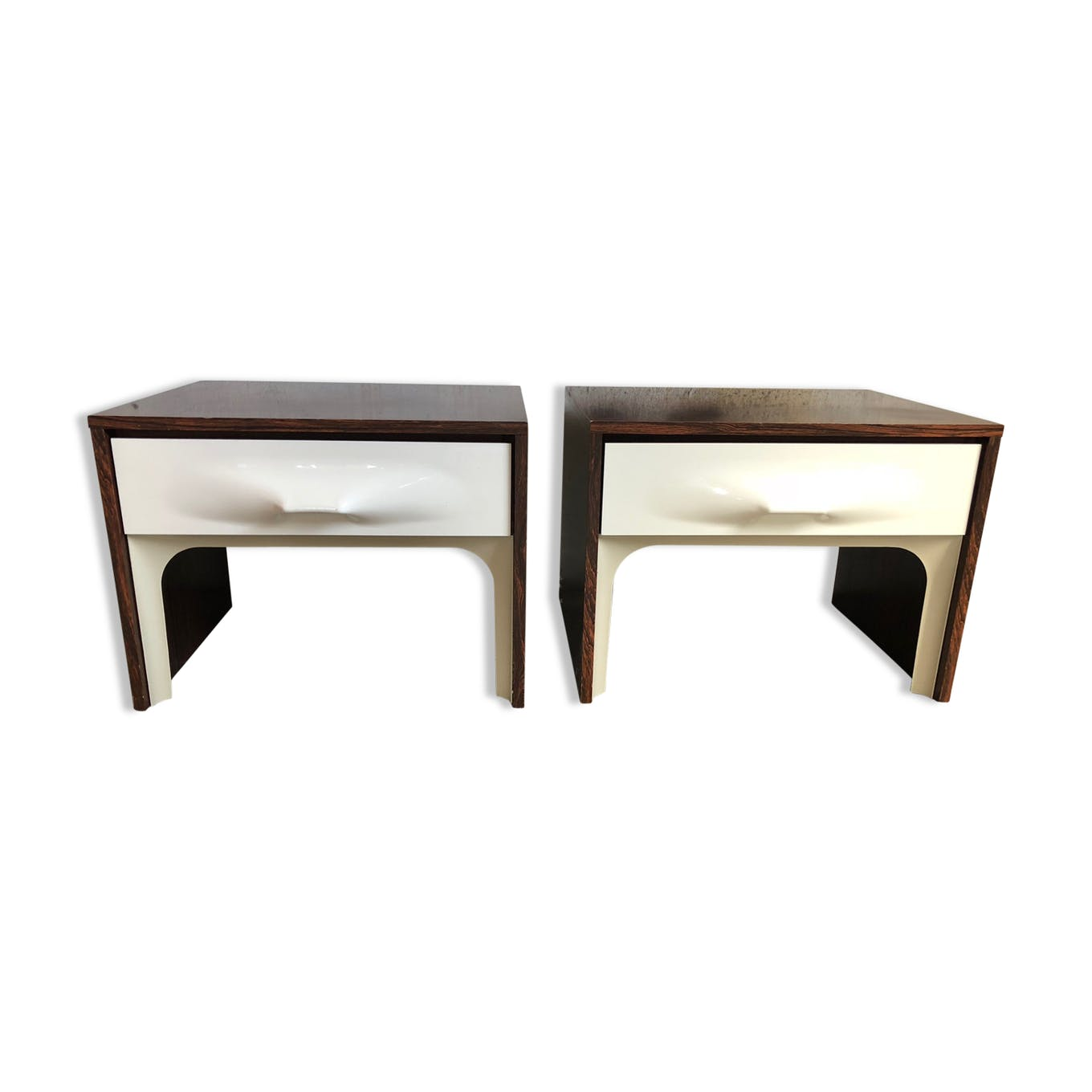 Table De Chevet Componibili set of 2 tables of bedside raymond loewy df 2000 - wood