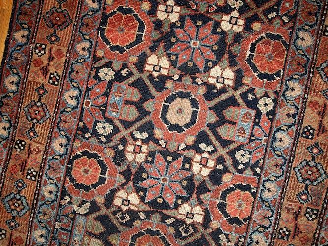 Runner old Persian hamadan handmade 91 x 396 cm