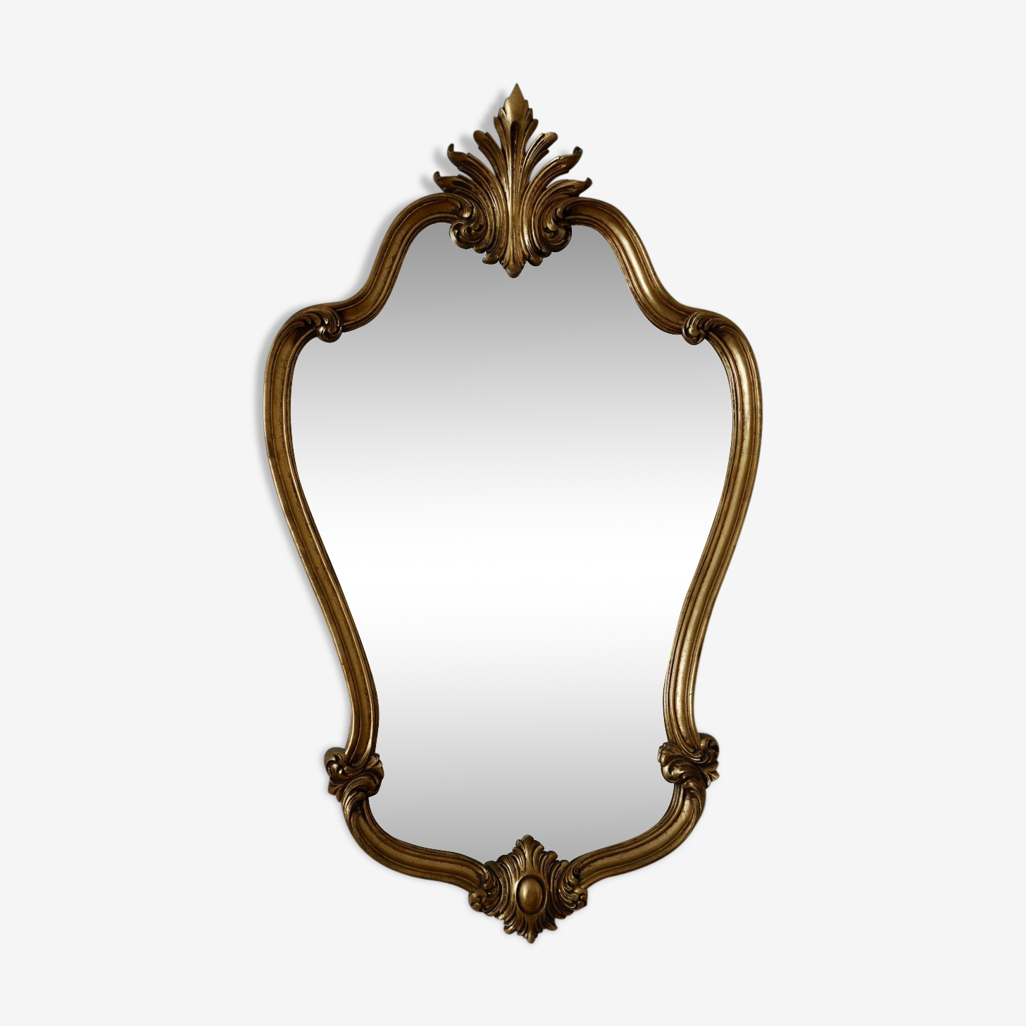 Mirror wooden gold 60s, 70s