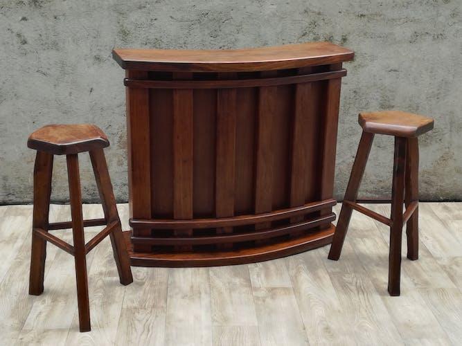 Bar and 2 stools 1950