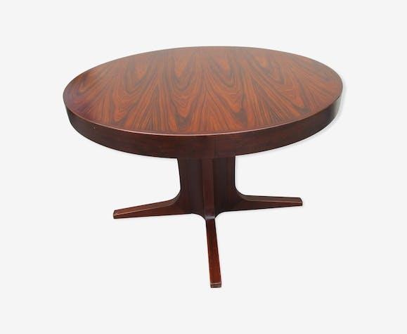 Table scandinave en palissandre de Rio vintage extensible scandinave
