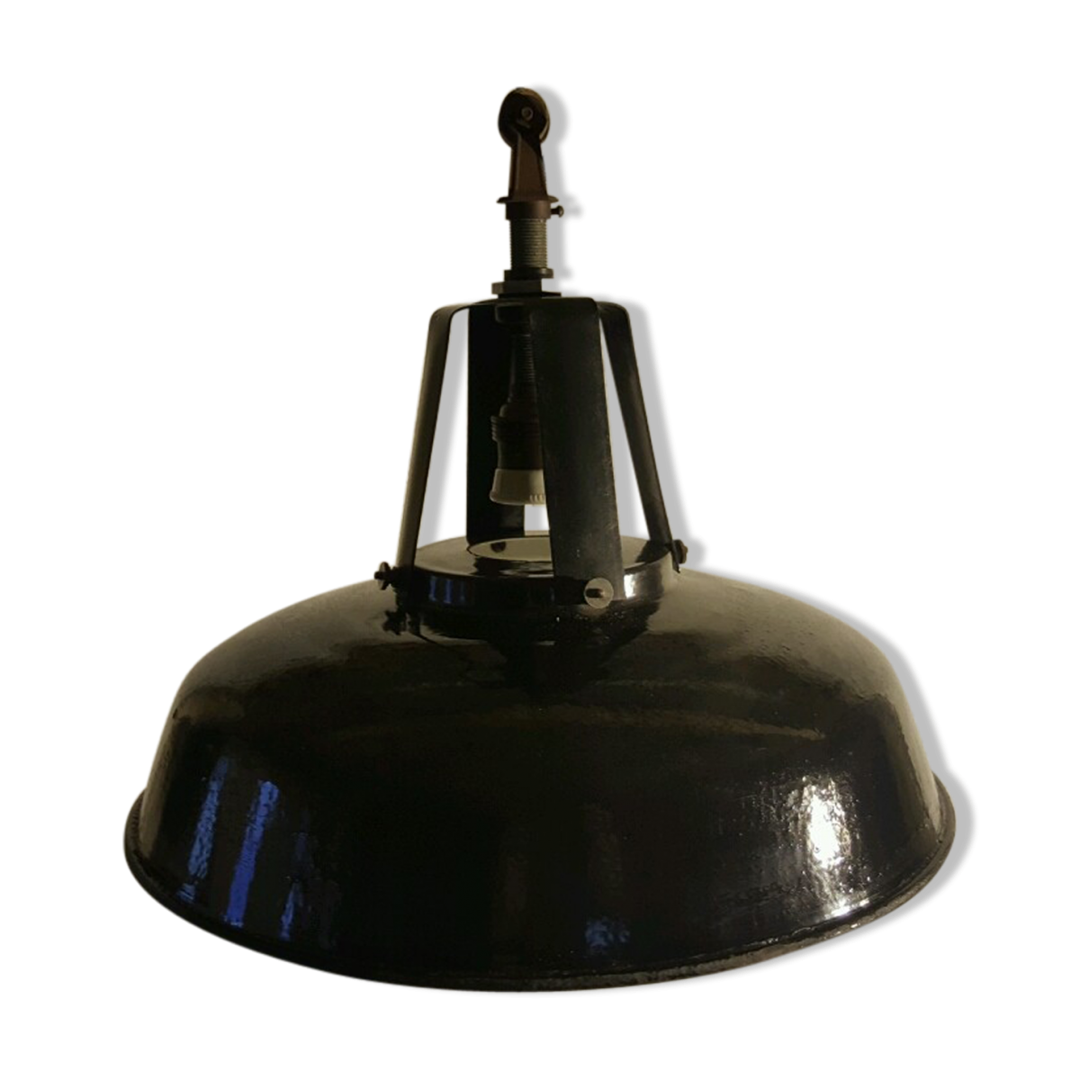 Lampe d'atelier, suspension d'usine, vintage
