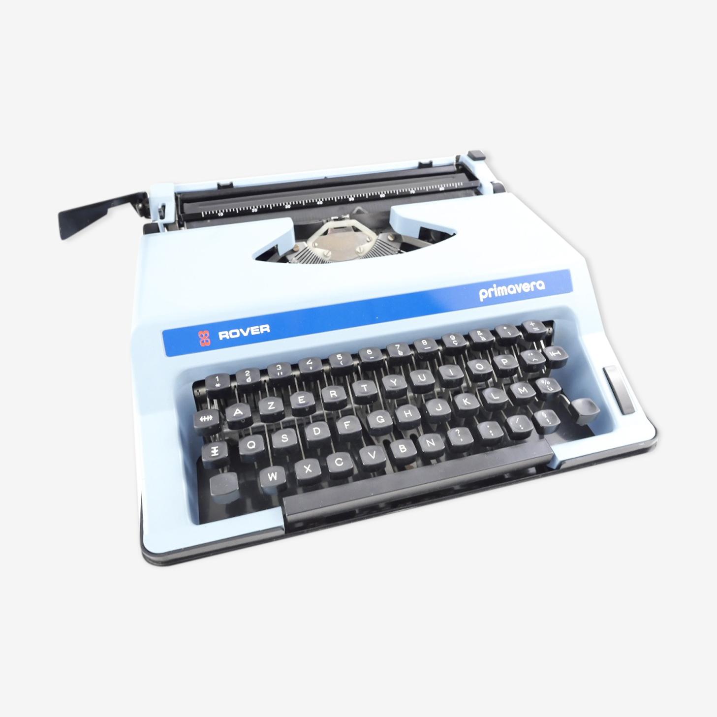 machine à écrire Rover Primavera Bleue pastel vintage révisée ruban neuf